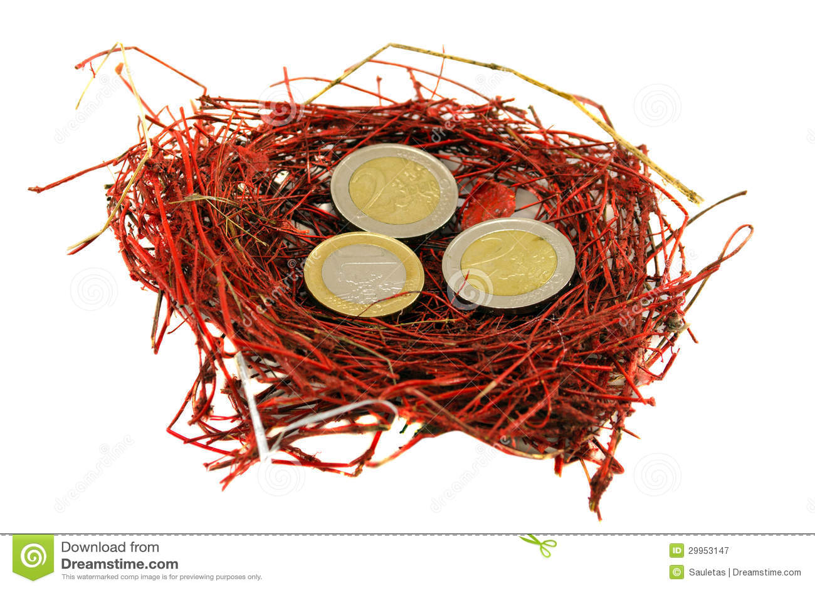 red bird nest and - photo #9