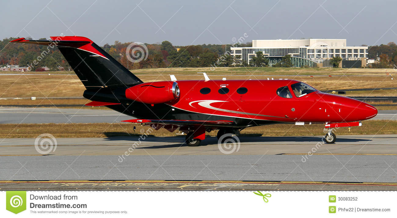 Red Private Jet Stock Photography - Image: 30083252