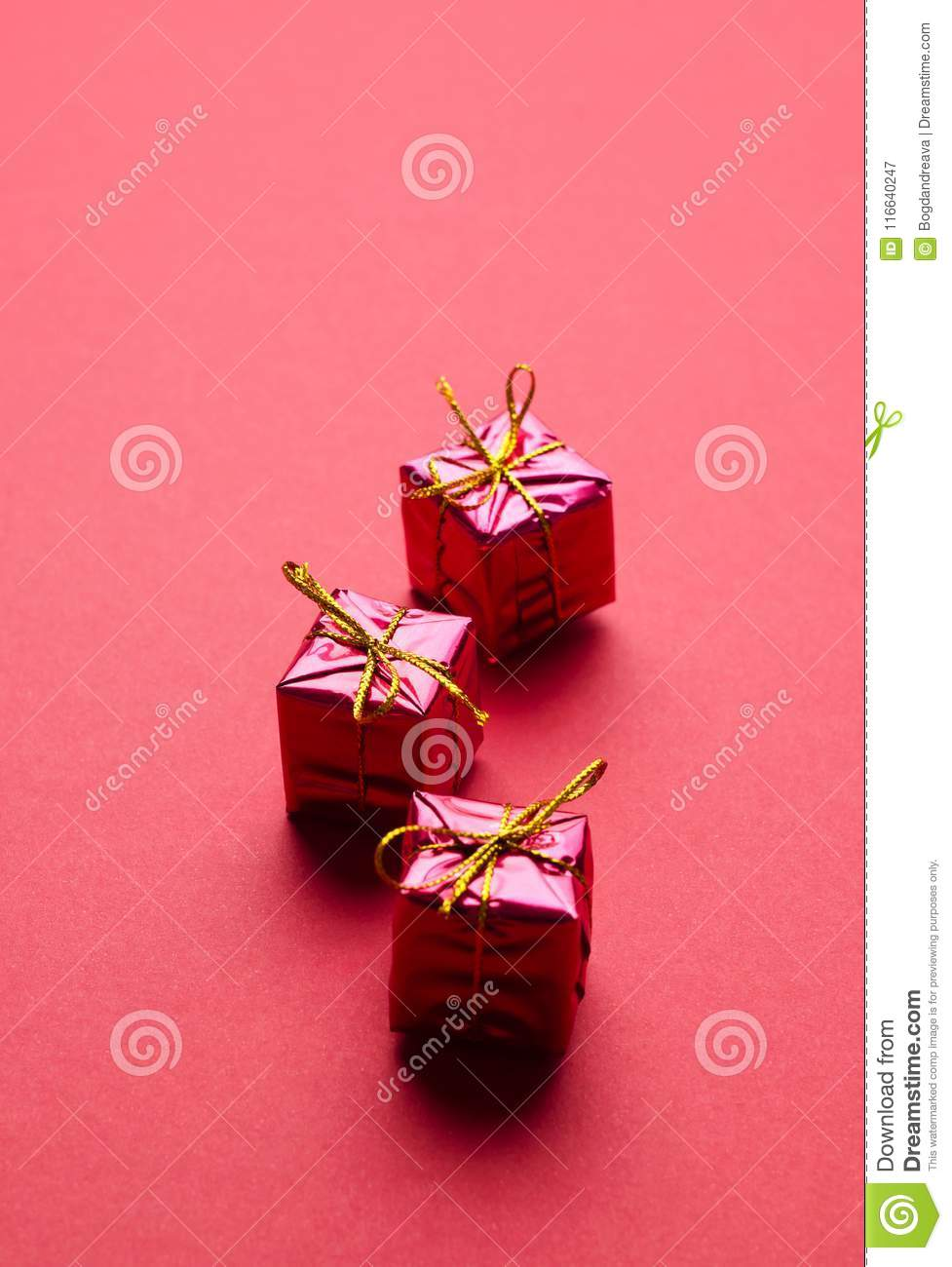 Small Christmas Gift Boxes stock image. Image of package - 116640247