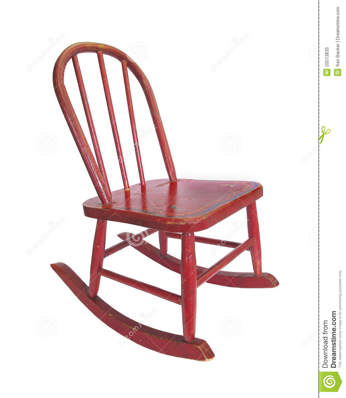 Red Rocking Chair Clipart ~ Small red rocking chair royalty free stock photo image