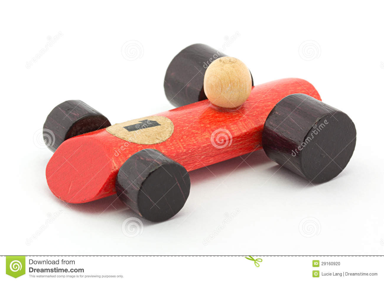 Small Red Wooden Toy Racing Car On White Stock Photo - Image: 29160920