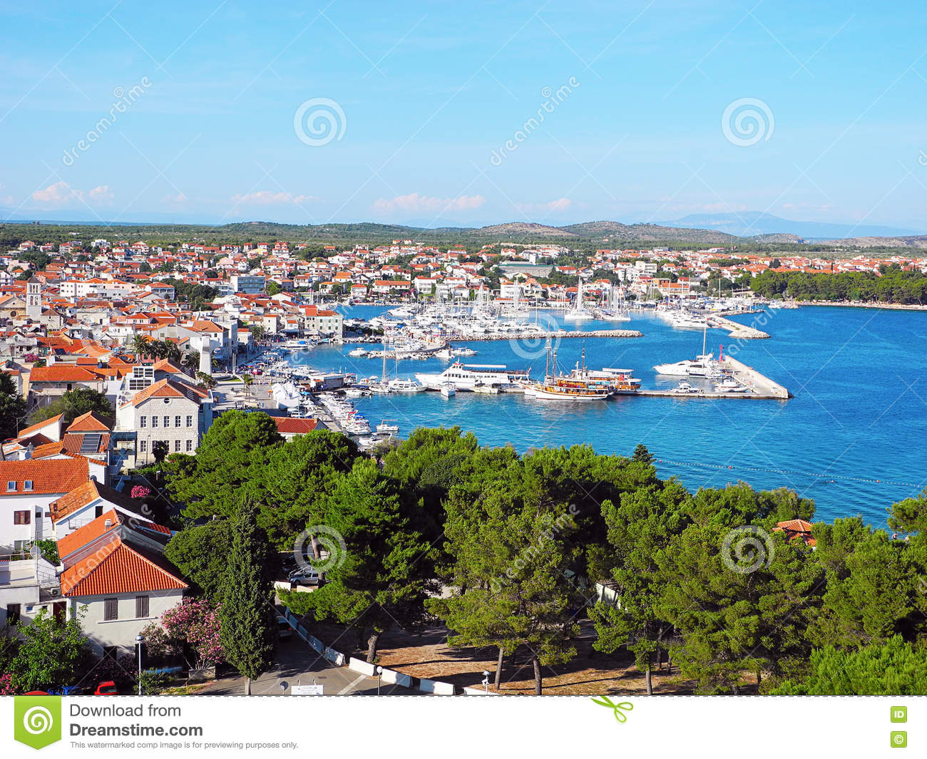 Small resort town of vodice stock image image 80985263 for Small resort