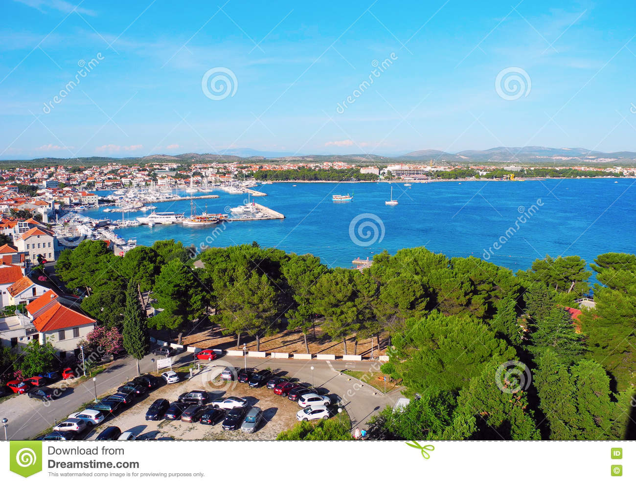 Small resort town of vodice stock photo image 81081430 for Small resort