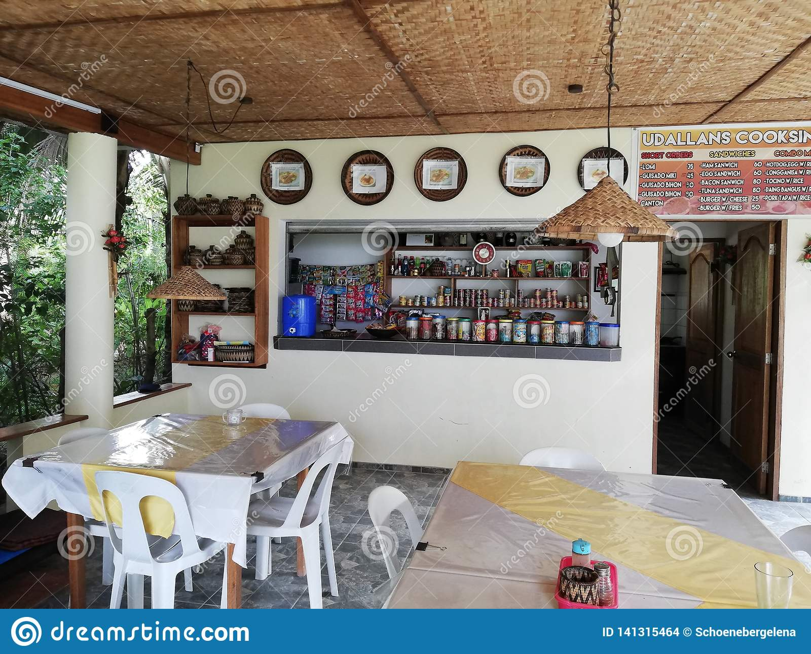Small restaurant and corner shop in remote part of Mindoro, Philippines