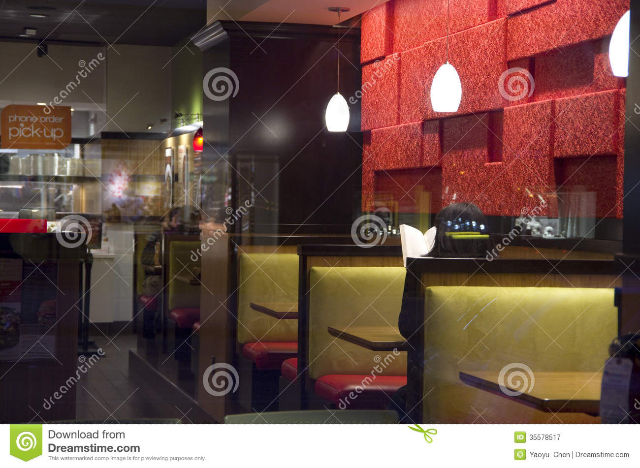 Small restaurant interiors royalty free stock photography Creative interior design