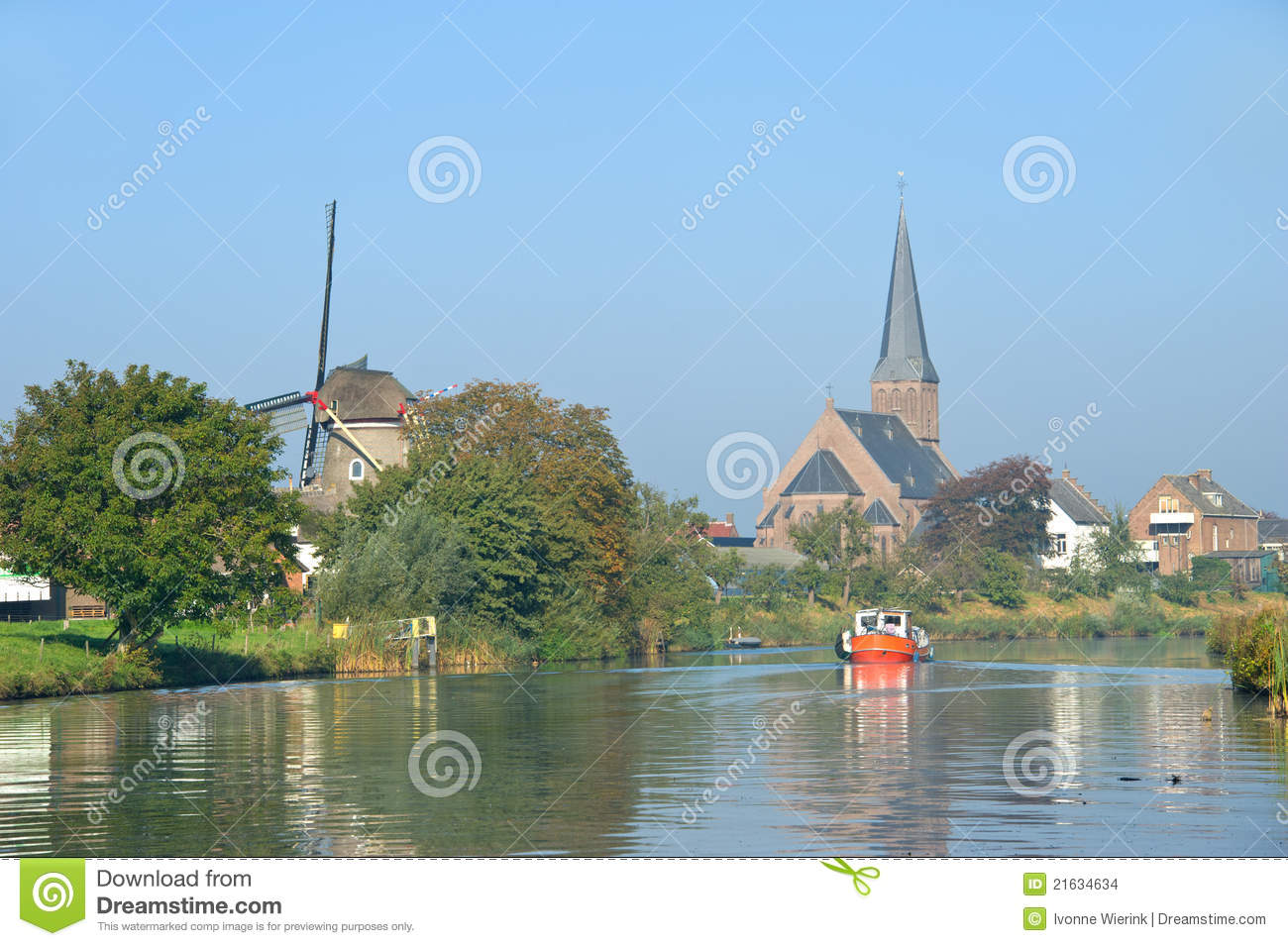 Small River In Holland Stock Images Image 21634634