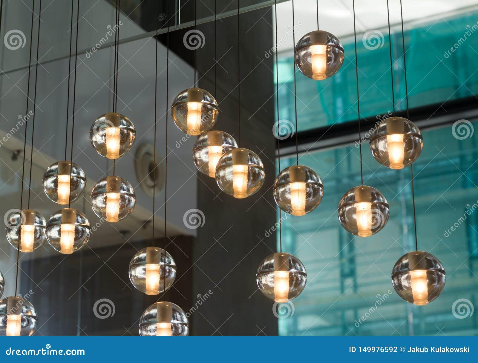 Small round designer glass lamps
