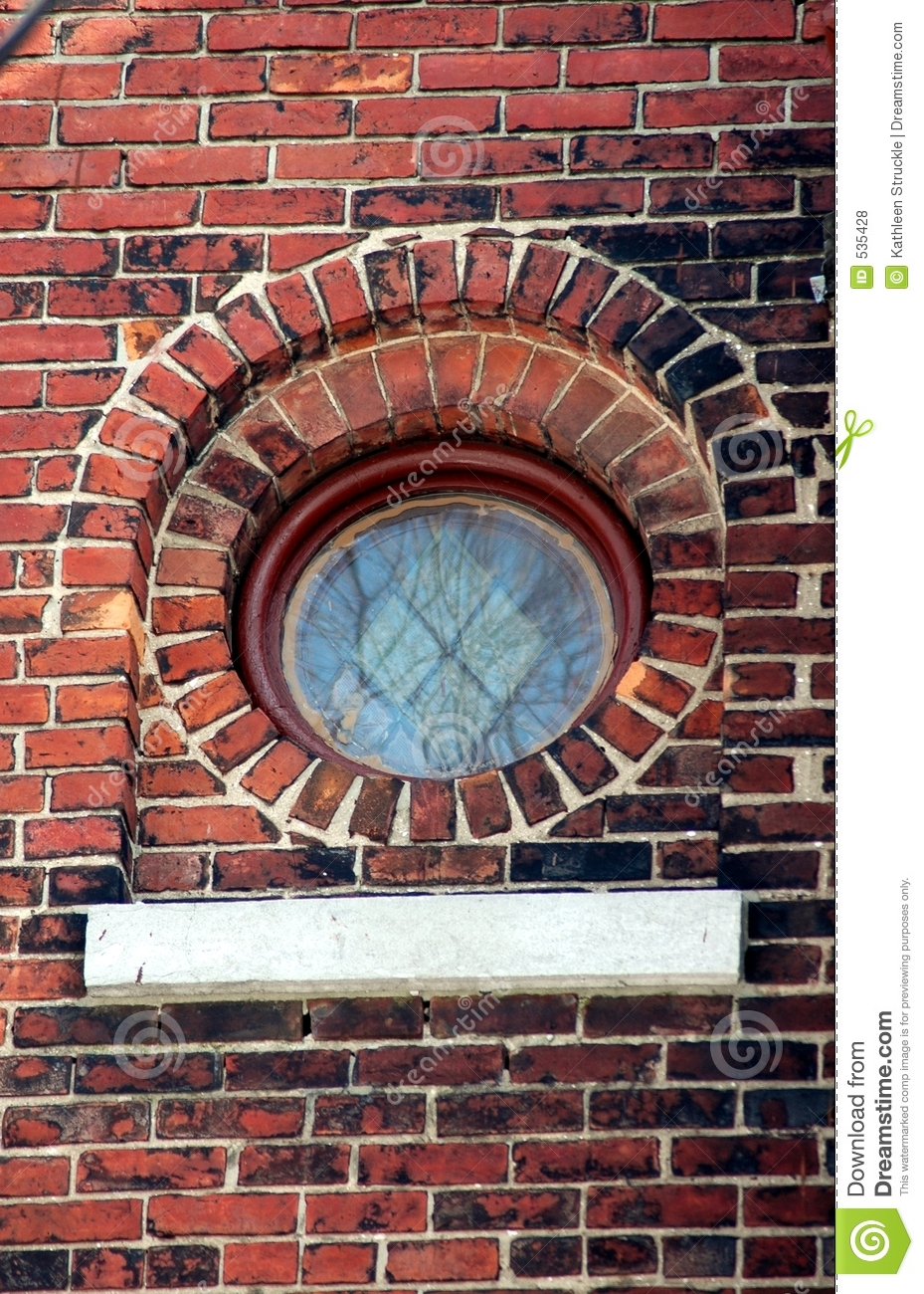 Small Round Stained Glass Window Stock Image