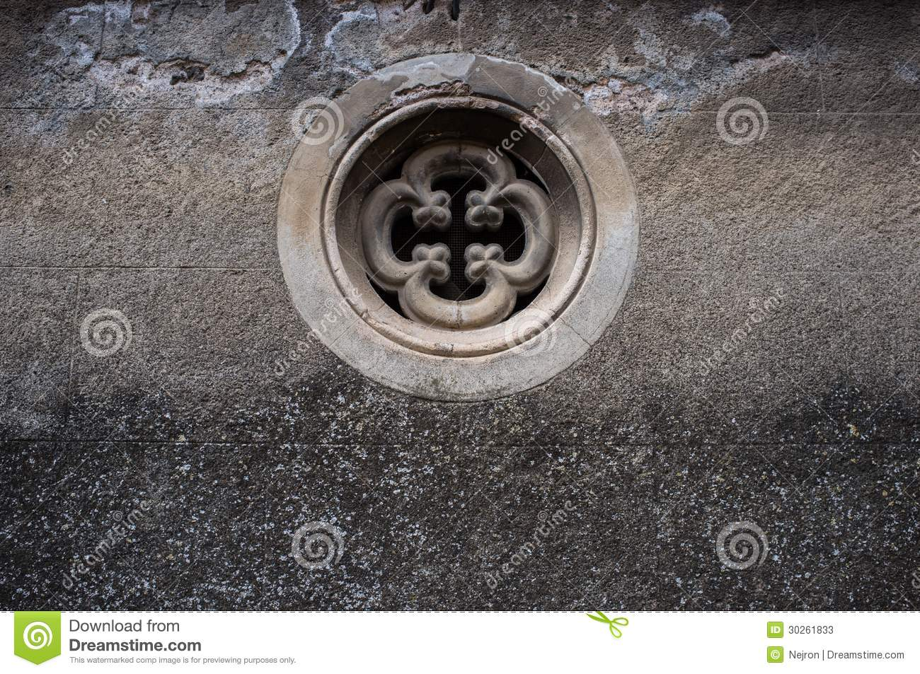 Small Round Windows: Small Window In An Old Wall Stock Photos