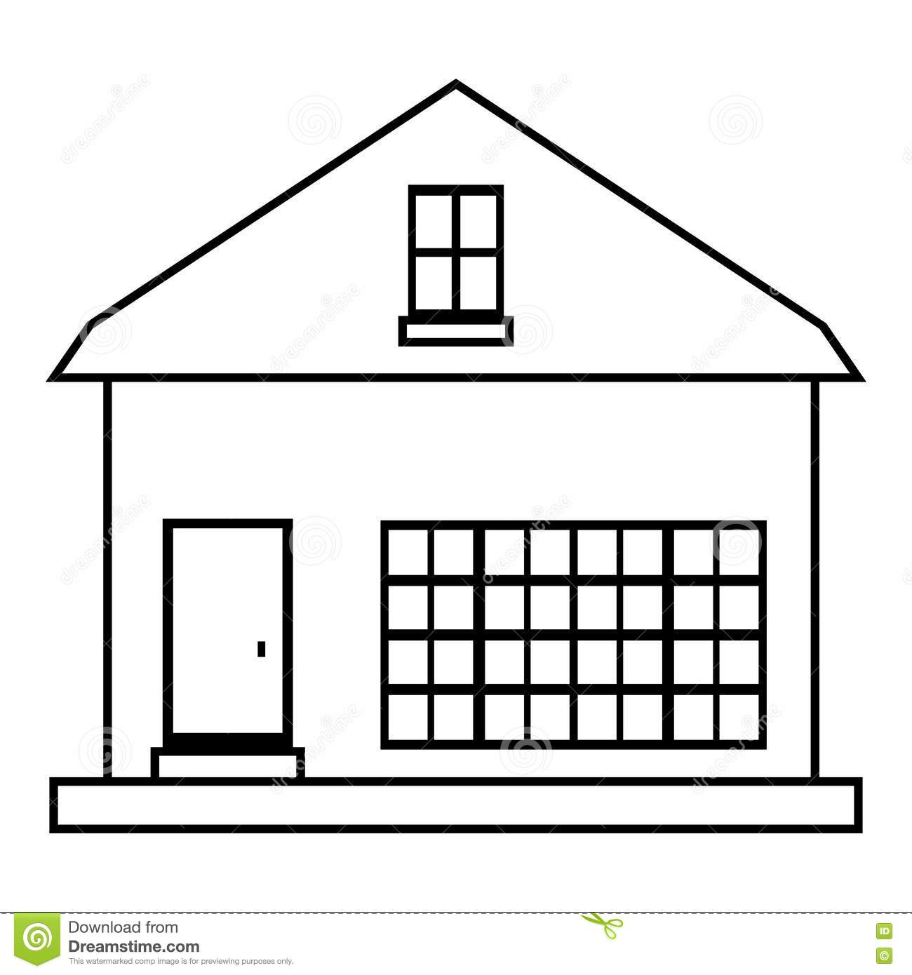House outline picture - Design House Icon Illustration Outline