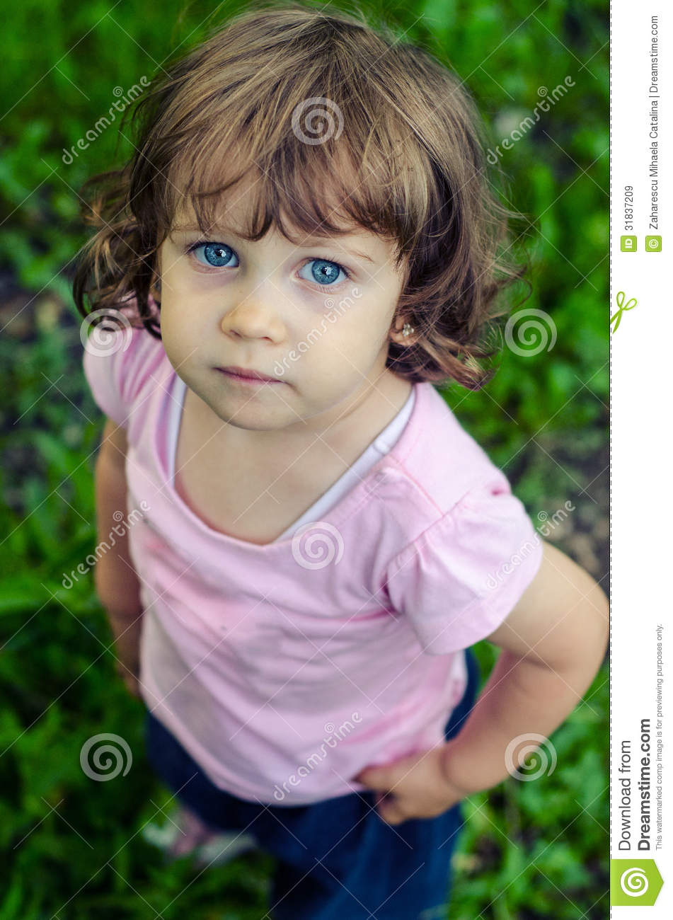 Small Sad Little Girl Royalty Free Stock Images Image