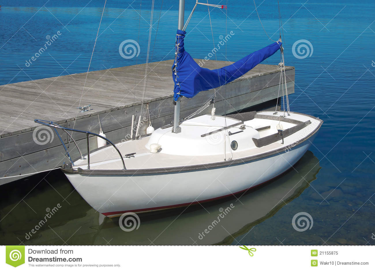 Small Sailboat Royalty Free Stock Photo - Image: 21155875
