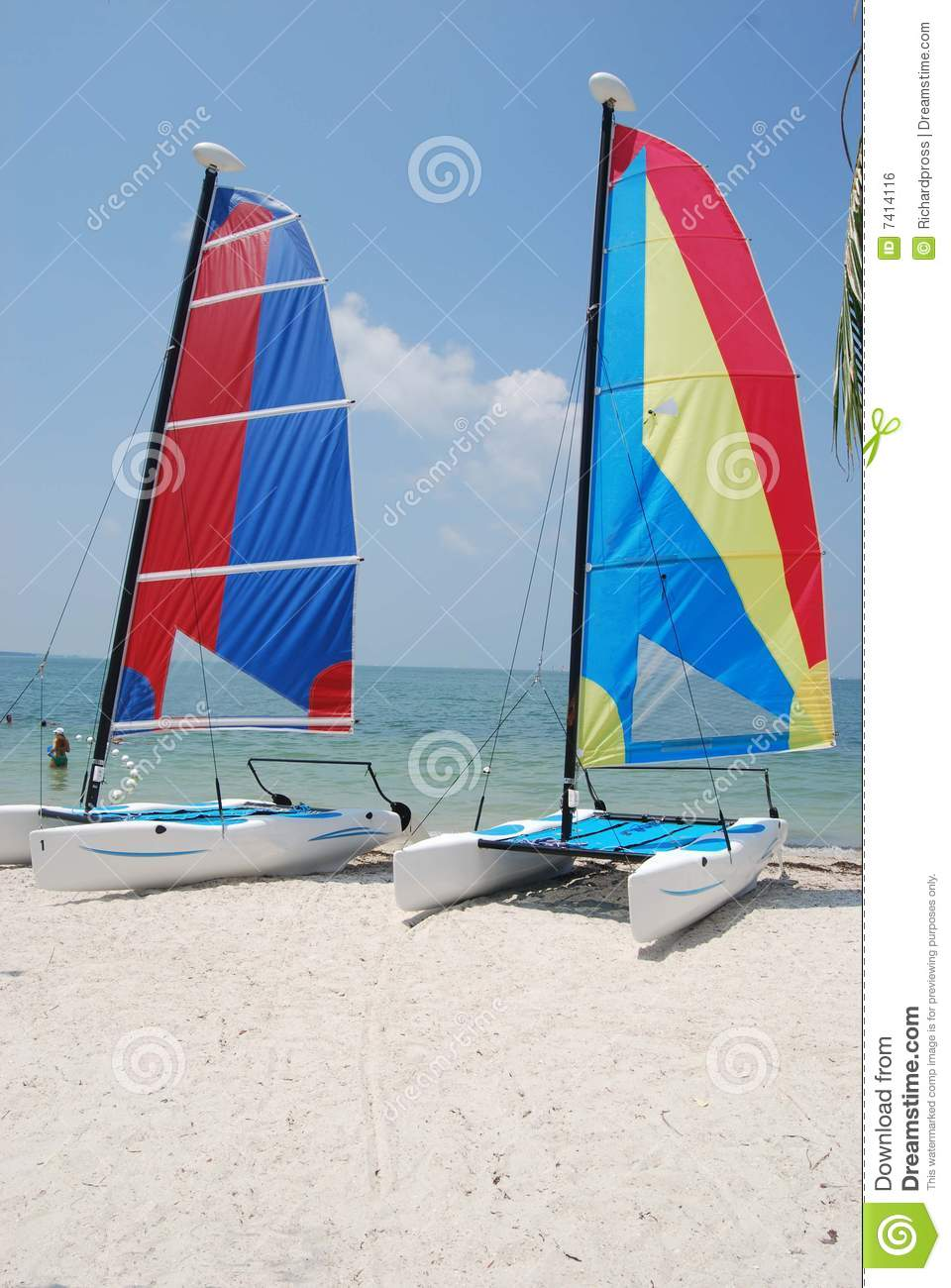 Small Sailing Catamarans Royalty Free Stock Image - Image: 7414116