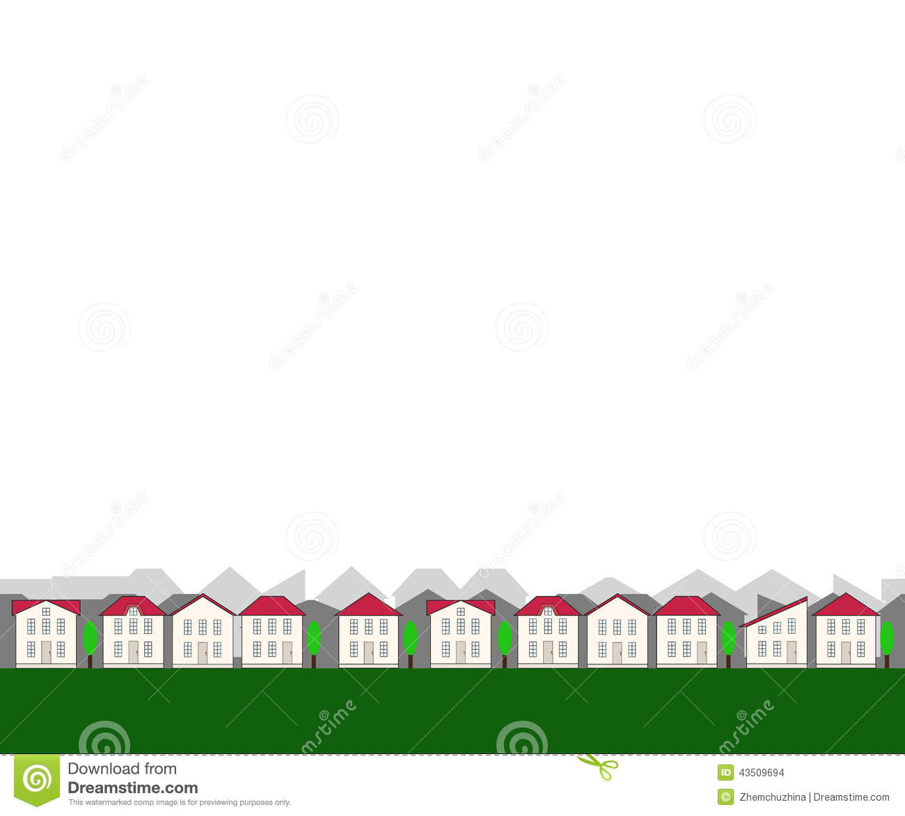 Small Seamless Real Estate Border Stock Vector Image