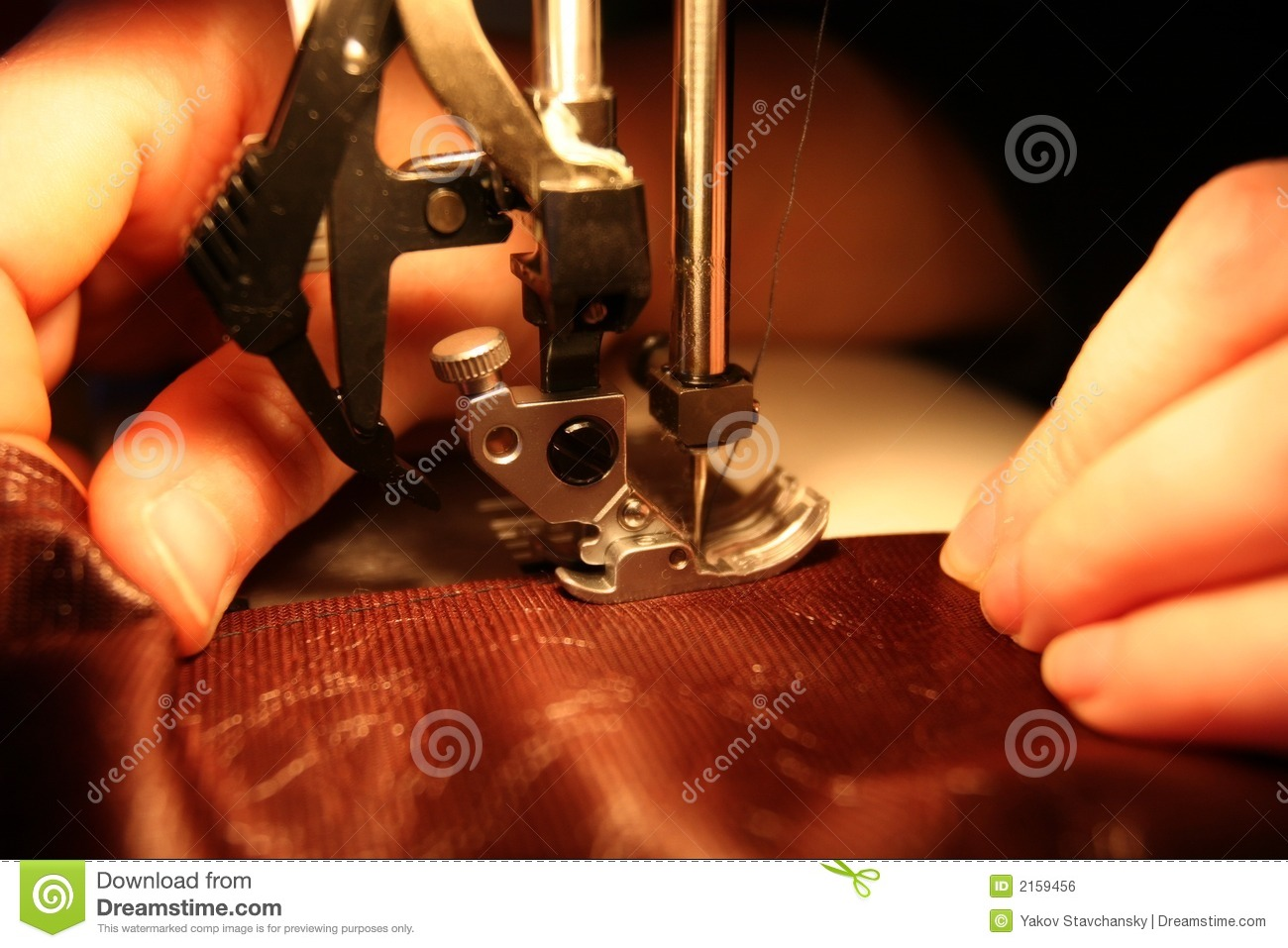 In a small sewing workshop.