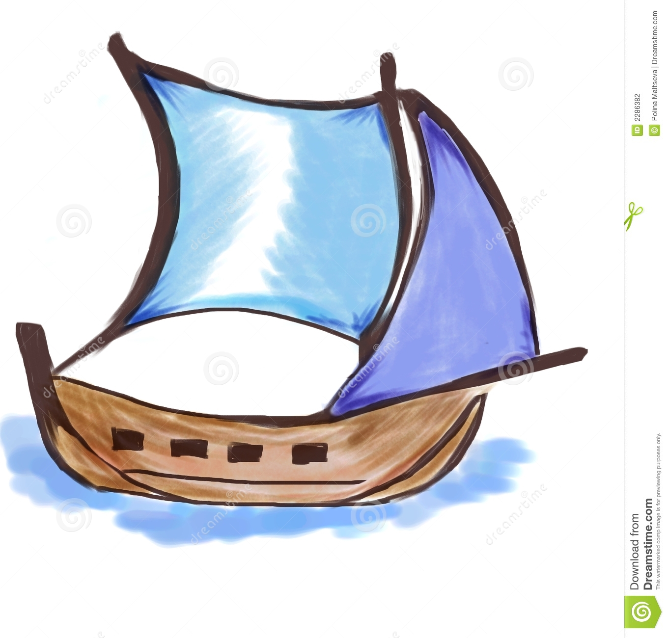Small ship stock illustration. Illustration of outdoors - 2286382