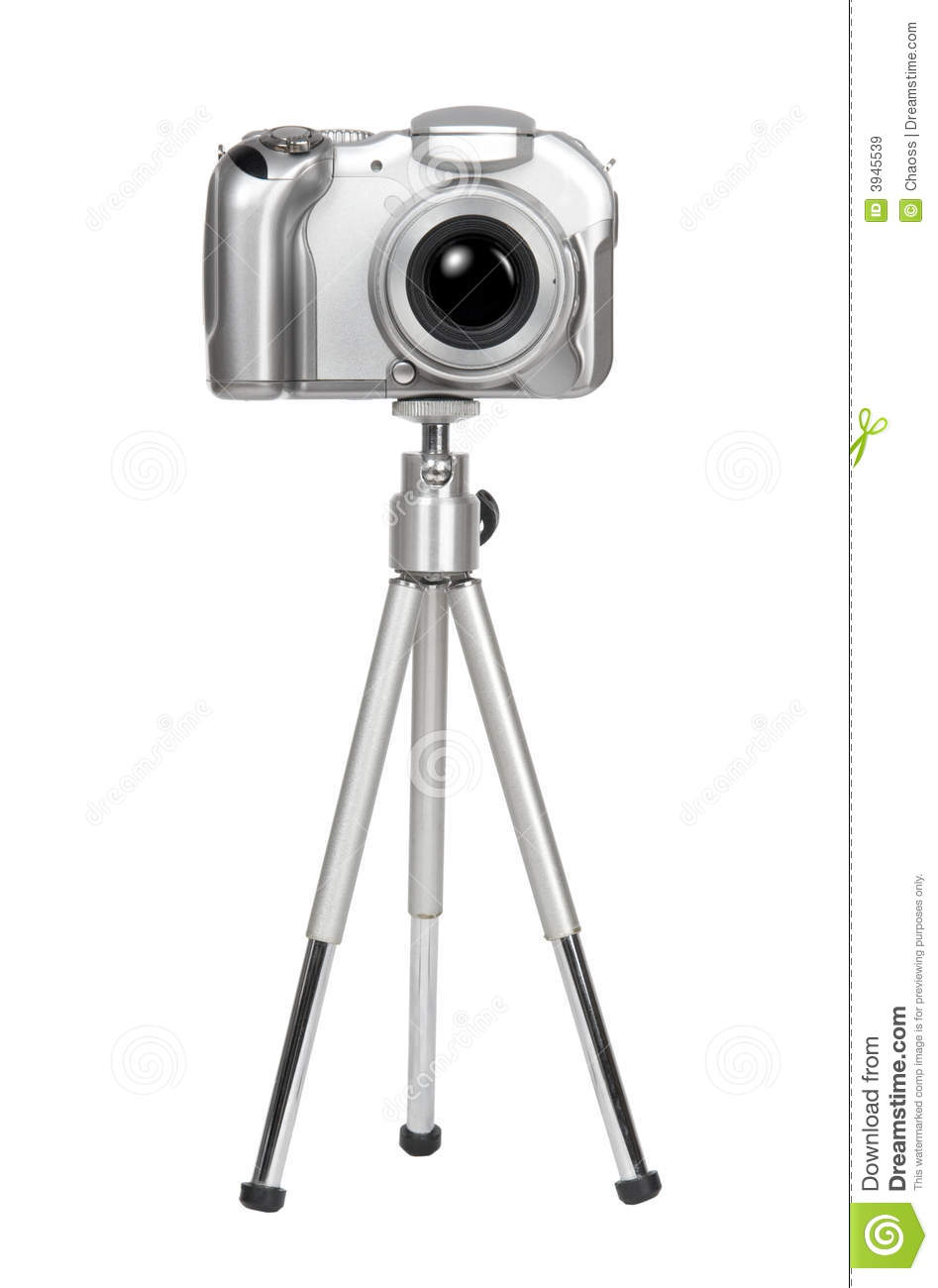 Small silver camera on a tripod royalty free stock images for Camera gratis