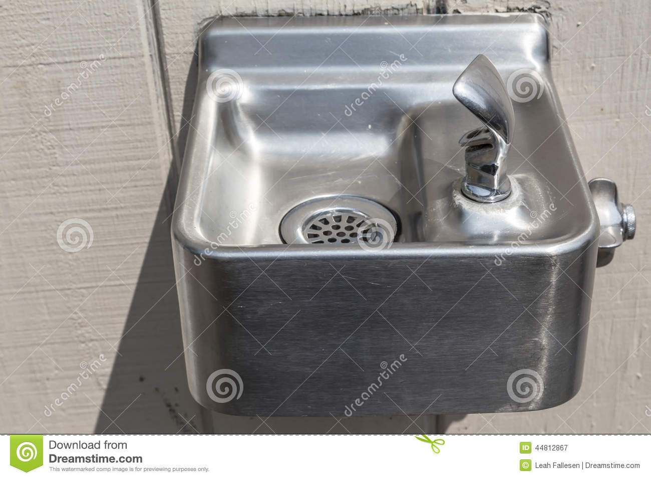 Drinking fountain - Small Silver Drinking Fountain Royalty Free Stock Photography