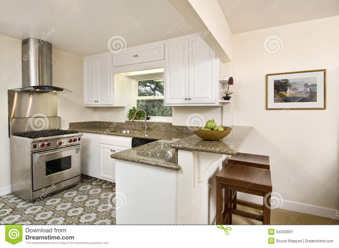 Small Simple Kitchen Stock Image Image Of Indoors