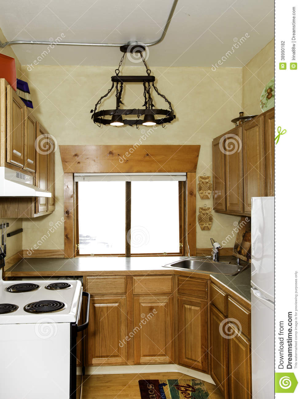 Small Simple Kitchen Room Stock Photo Image 38990182
