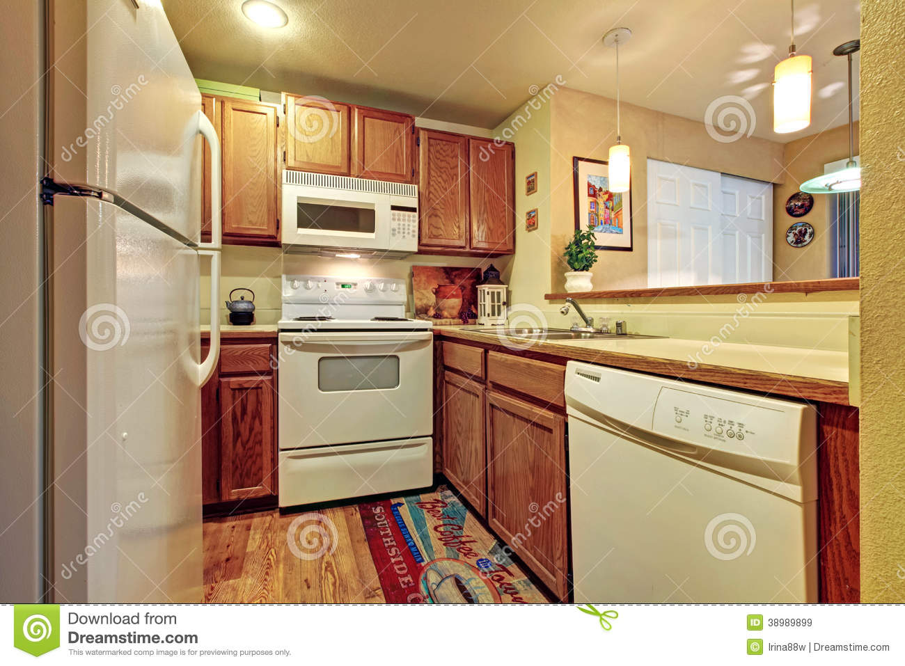 Small Simple Kitchen Room Stock Photo Image 38989899