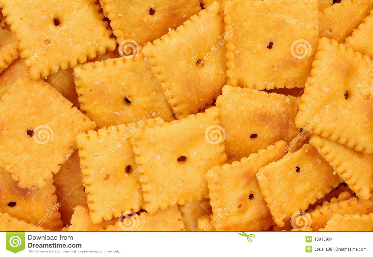 Small Square Cheese Crackers Close View Stock Images - Image: 18816934
