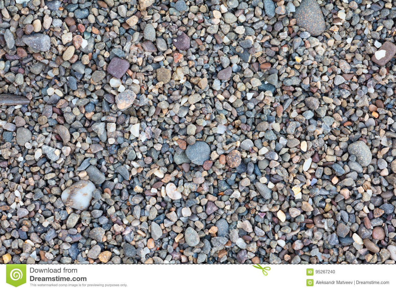 Small stones pebbles sand background