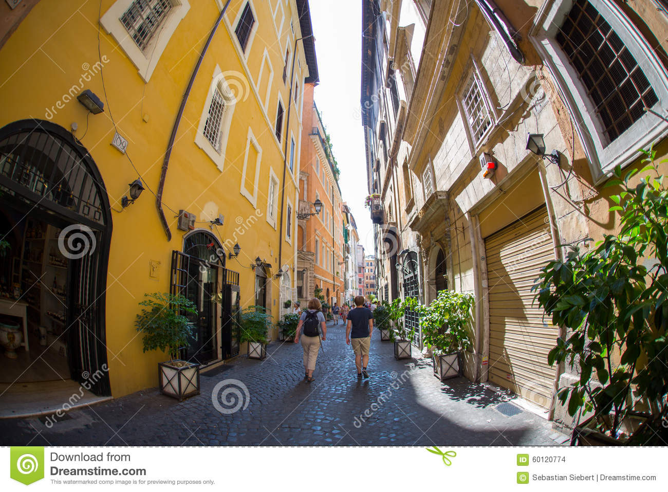 Small Streets Of Rome In Italy Stock Photo Image 60120774