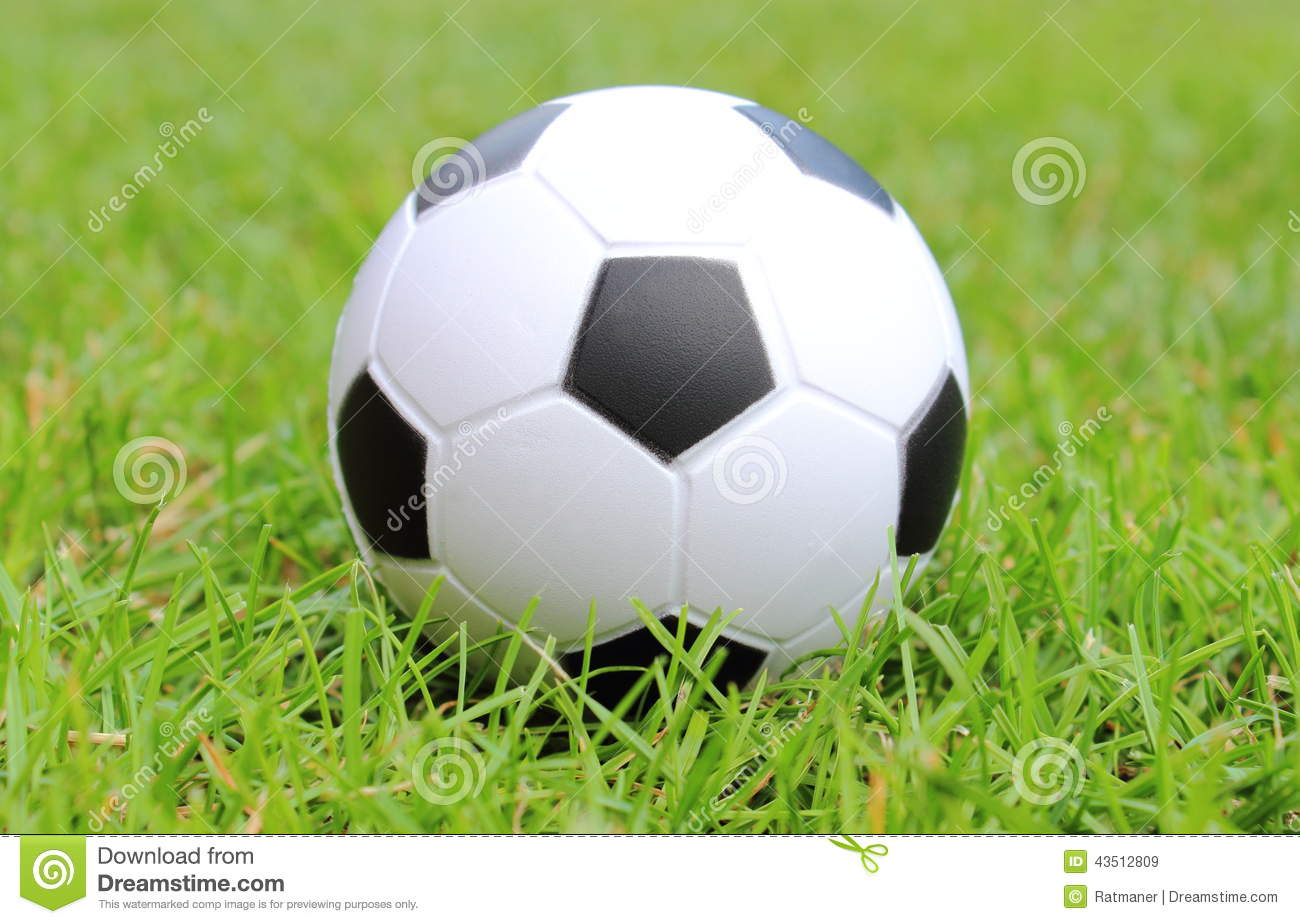 f25264dd98c Small Stress Ball Lying On The Green Grass Stock Image - Image of ...
