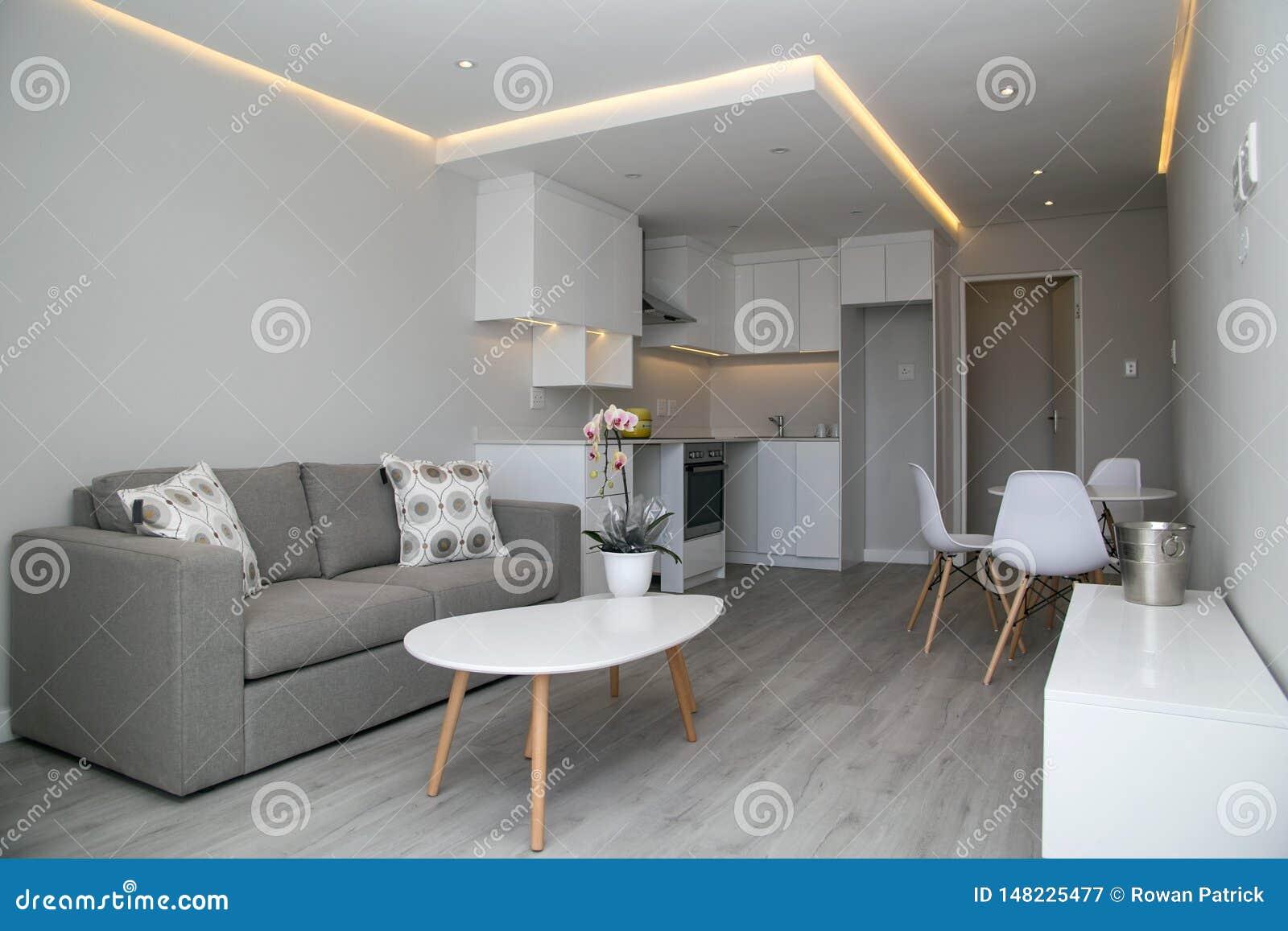 Small studio apartment stock image. Image of decor, loft ...