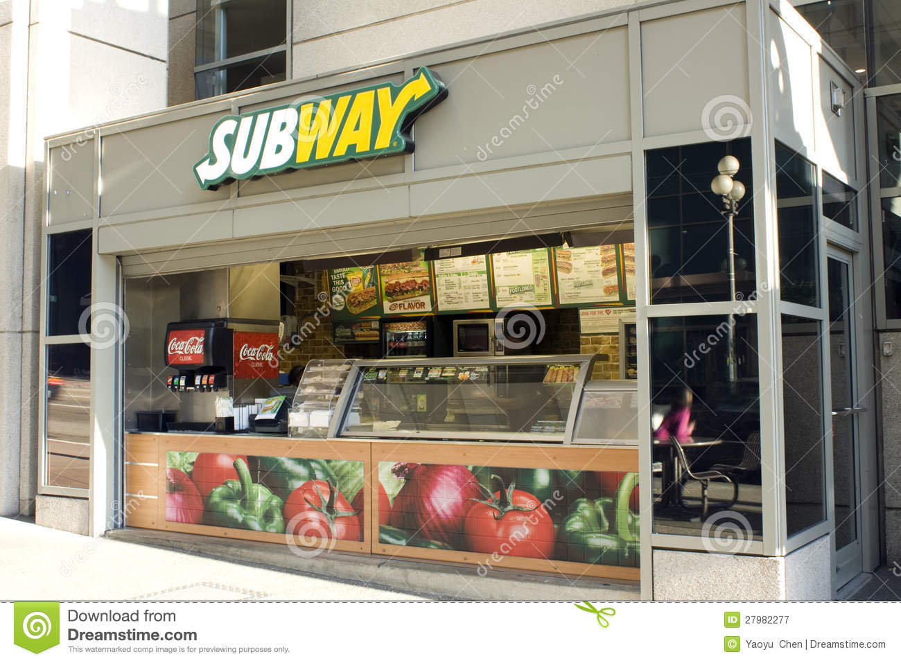 Small Subway Restaurant Editorial Photography Image