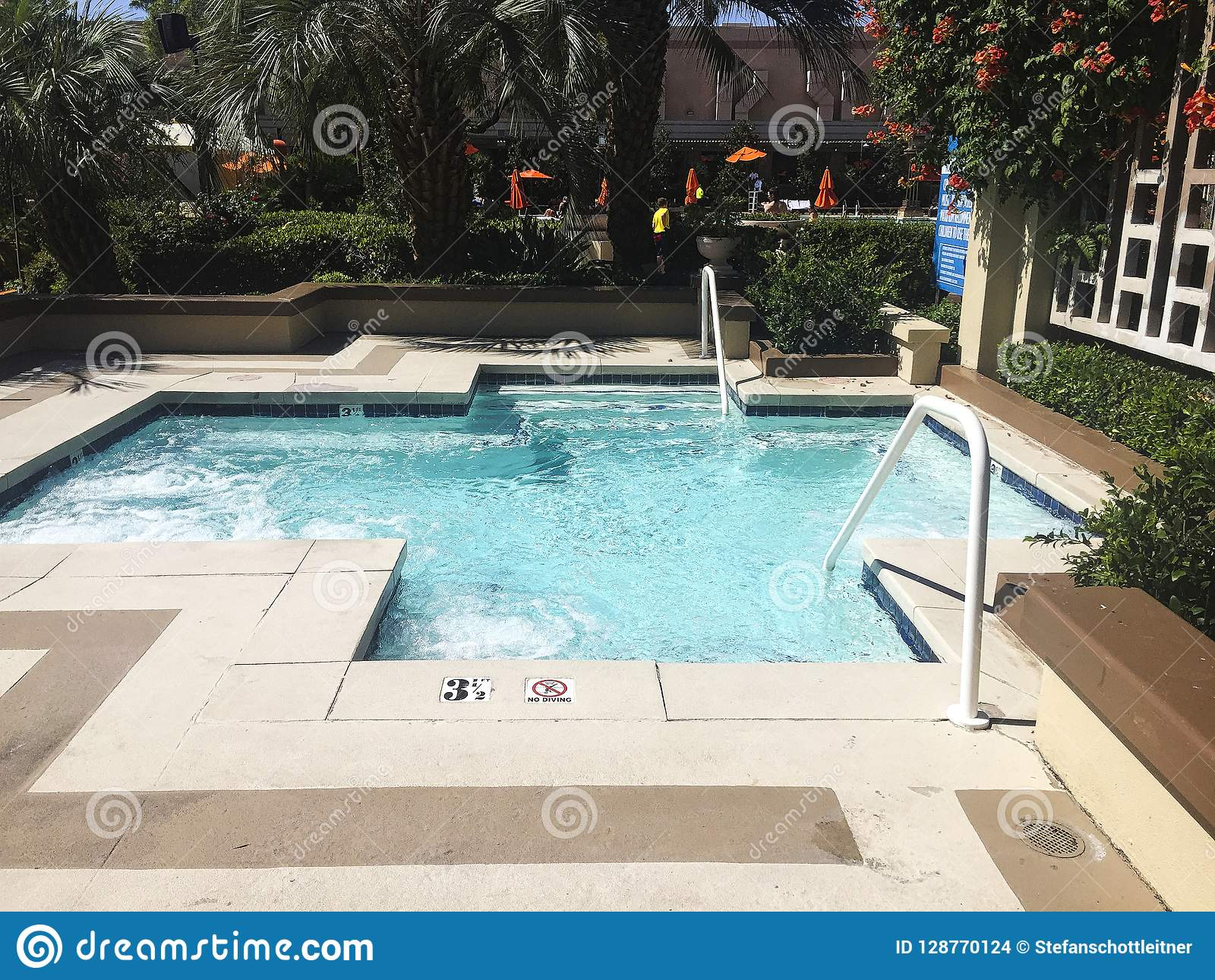 A Small Swimming Pool In A Resort Stock Photo Image Of Little