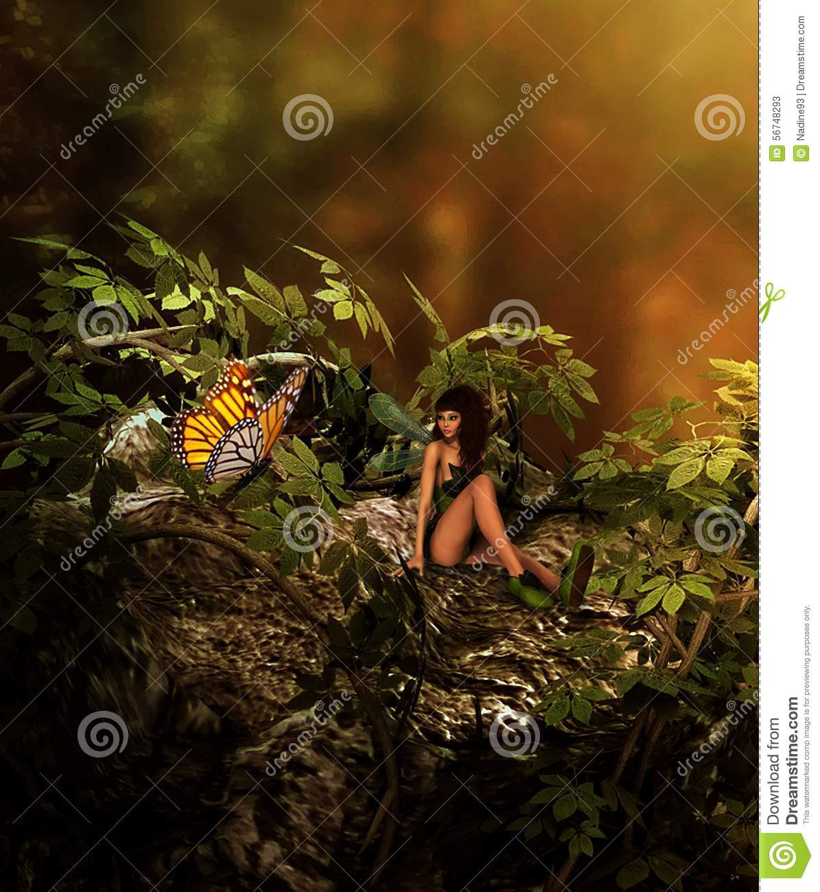 high quality rendered images of a fairy girl talking to a fairy: images small talk