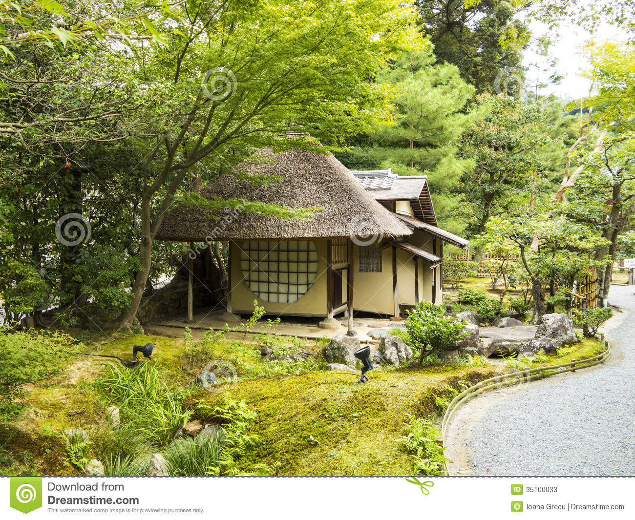 Small tea house in a garden stock photos image 35100033 for Small garden house