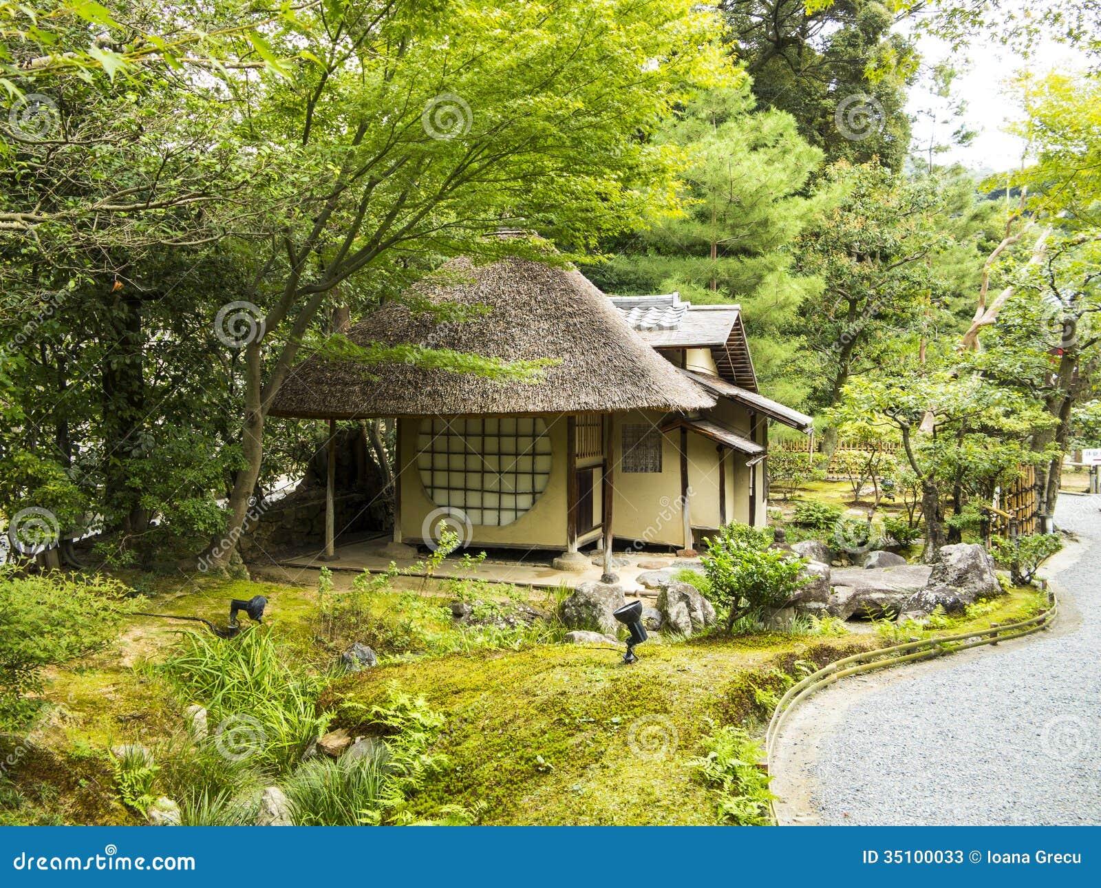 Small tea house in a garden stock photos image 35100033 for Japanese garden house