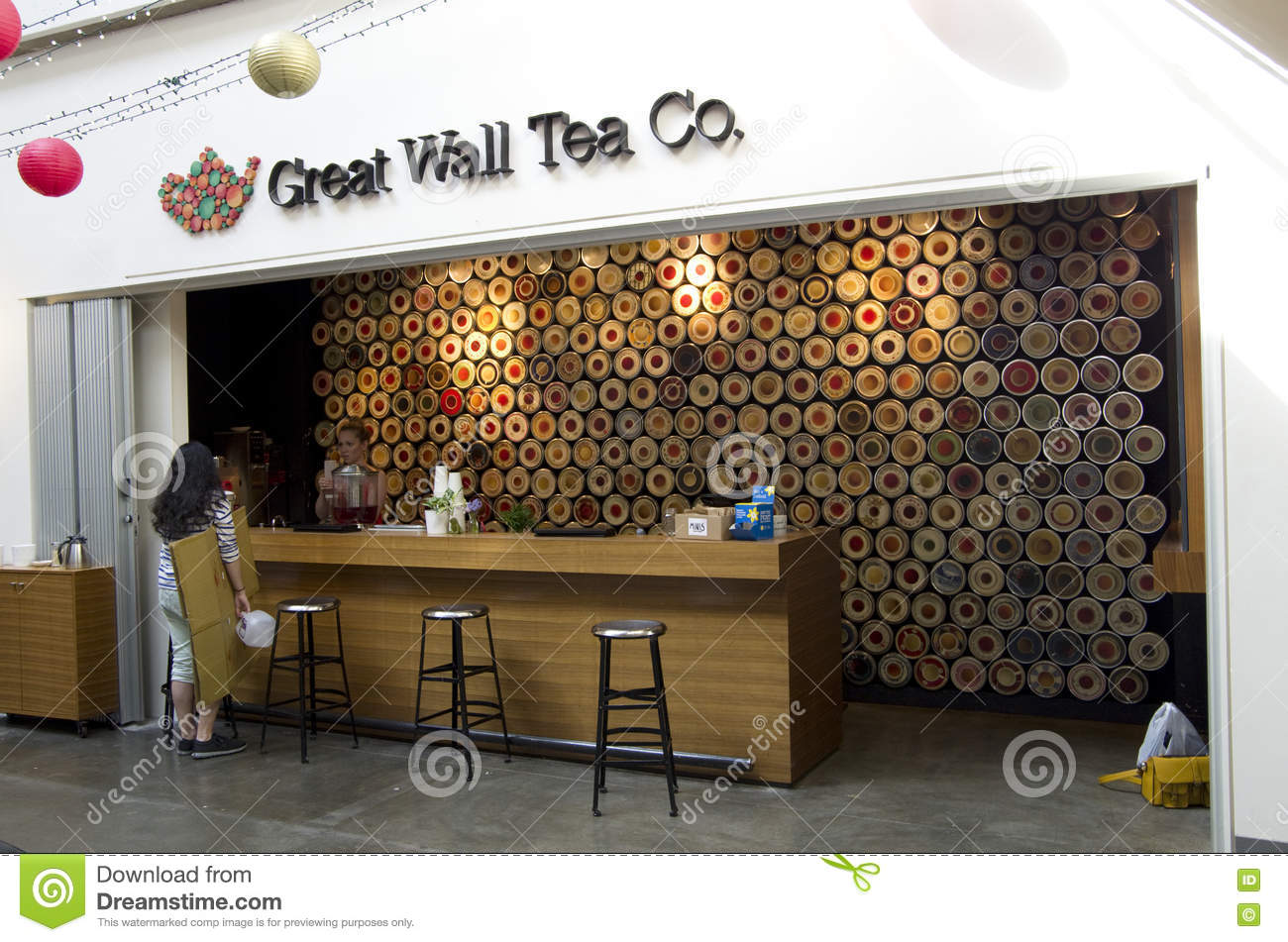 A Small Tea Shop Editorial Image Image Of Hanging Small 69759720
