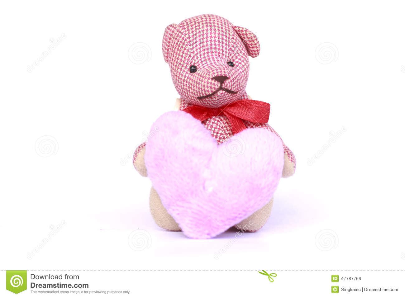 Small Teddy Bear Toy - Stock Image