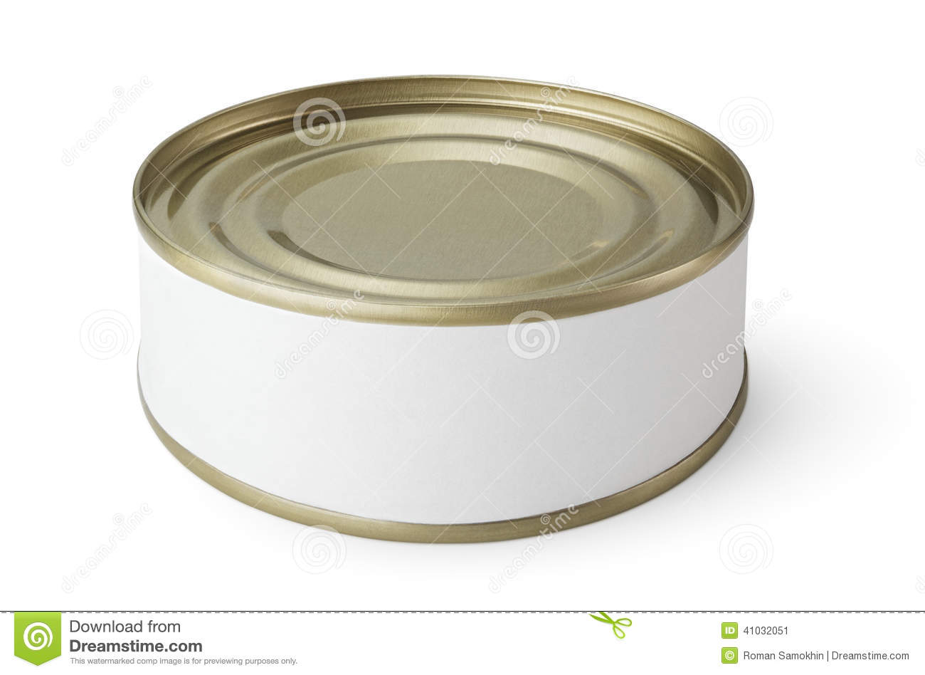 Small tin can isolated on white Stock Image