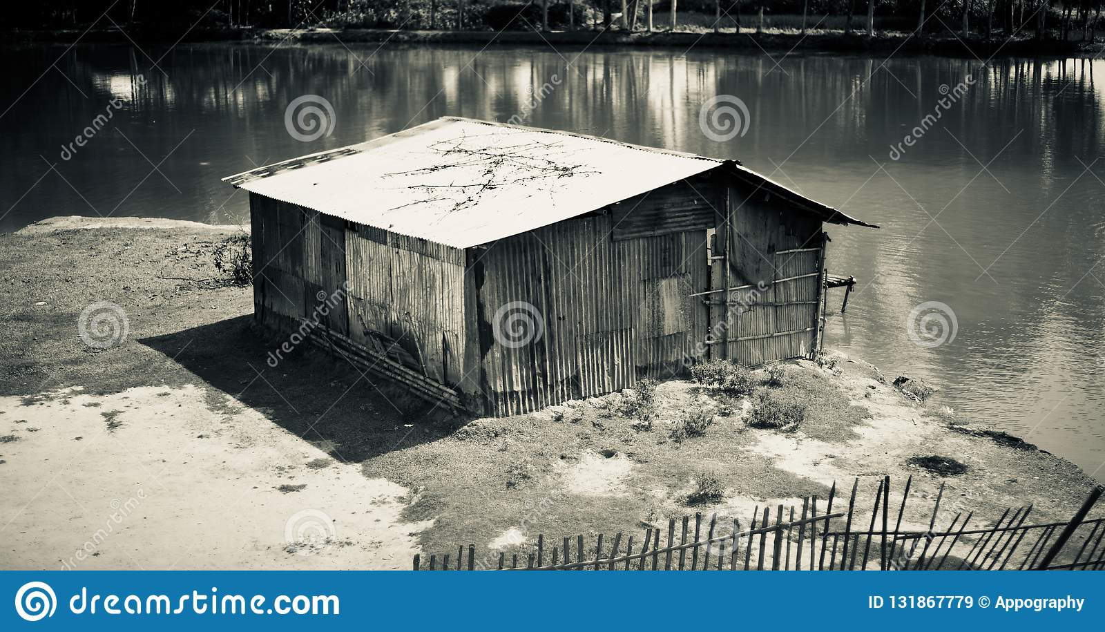 A small tin shed house unique photo