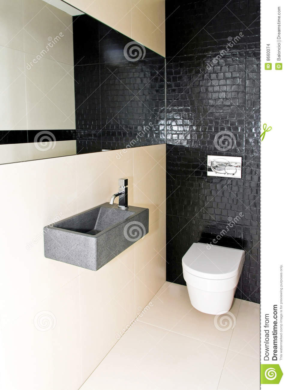 Small toilet 2 stock photo image of stylish ceramics for Small wc design