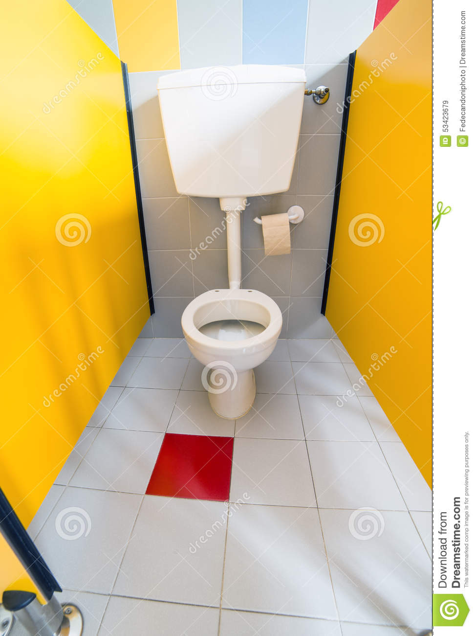 Small TOILET To A Nursery In The Toilet Cabin Stock Photo ...