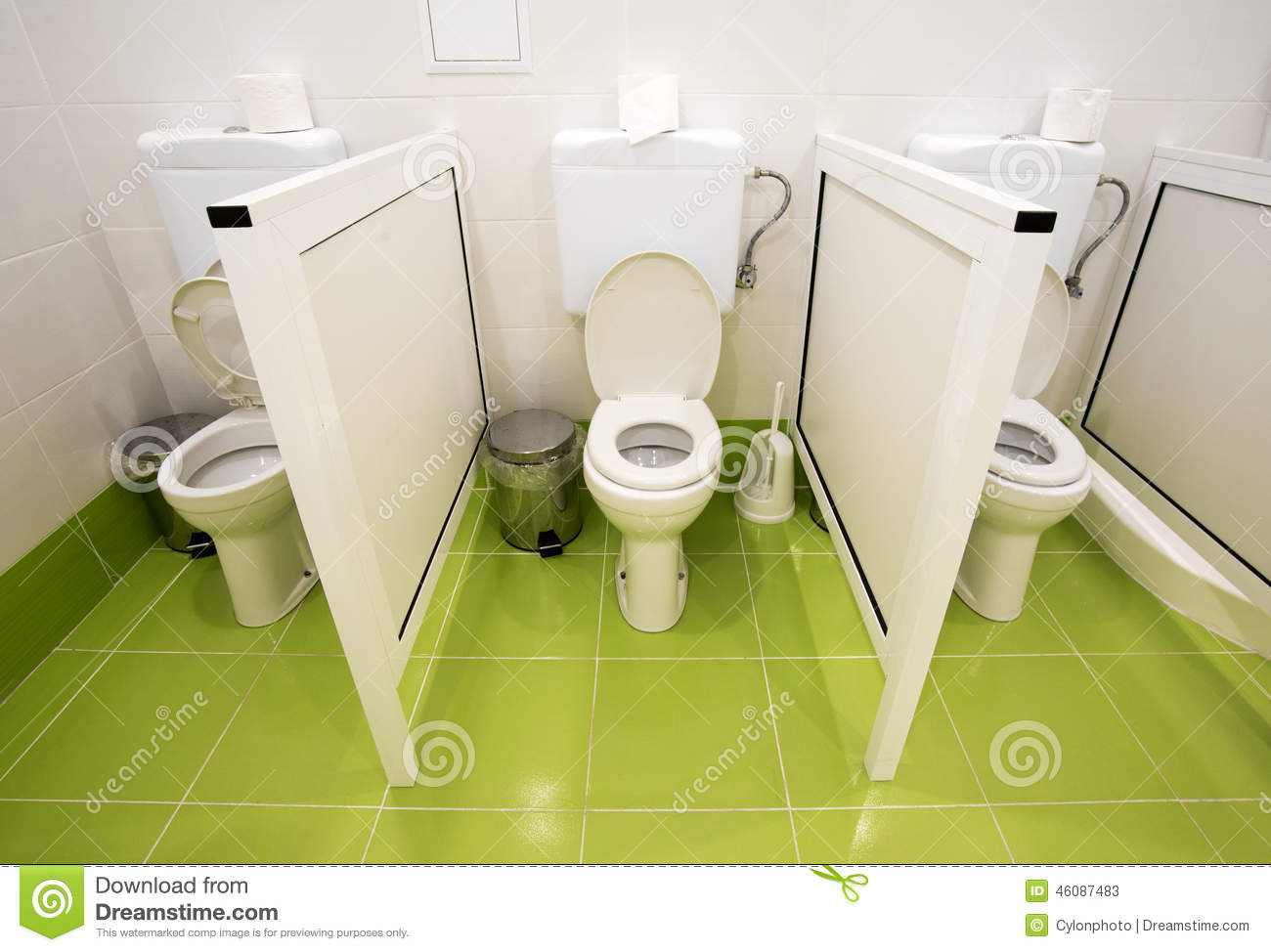 Small toilets for kids in a kindergarten stock photo image 46087483