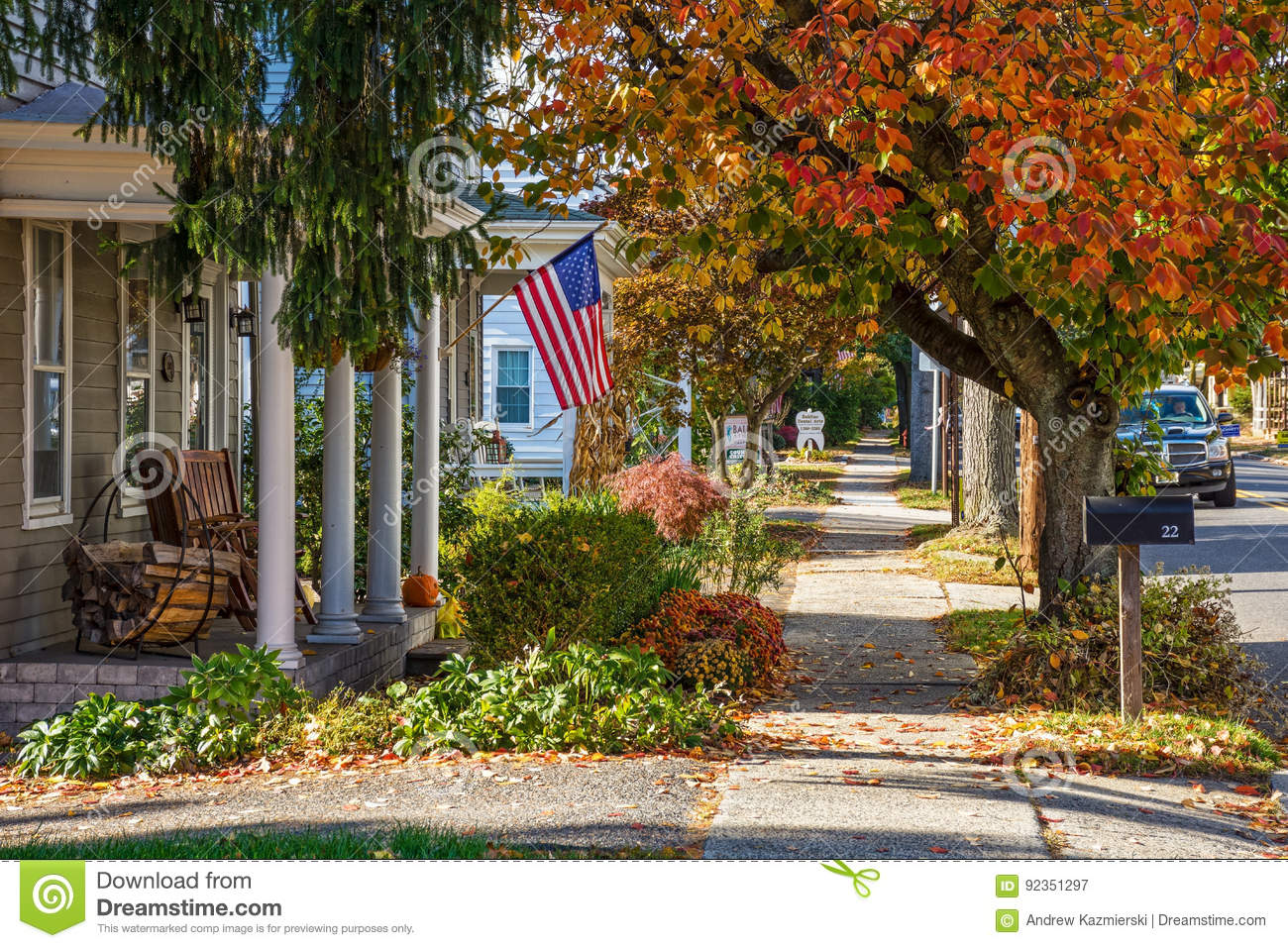 Small Town America Editorial Photography Image Of Fall 92351297