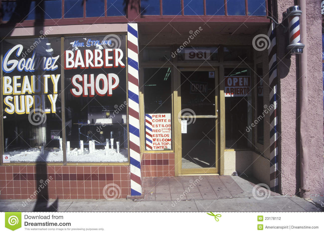 A Small Town Barbershop Editorial Photography Image Of