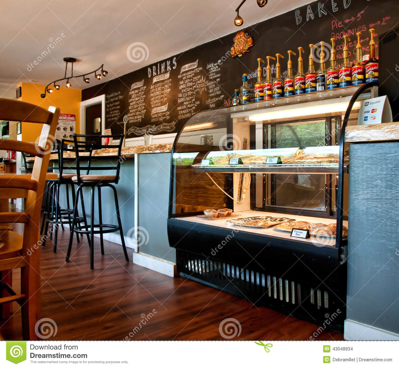 Small Town Coffee Shop Editorial Stock Image Image Of