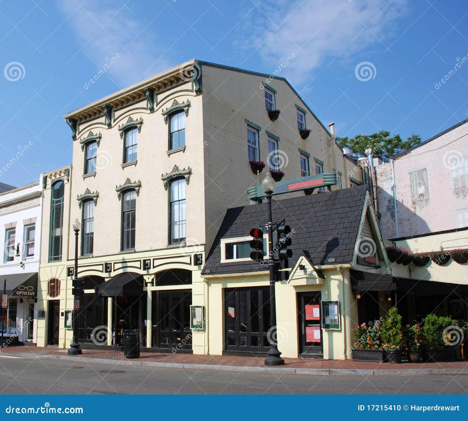 10 Light Street Apartments: Small Town Main Street 7 Stock Photo. Image Of England
