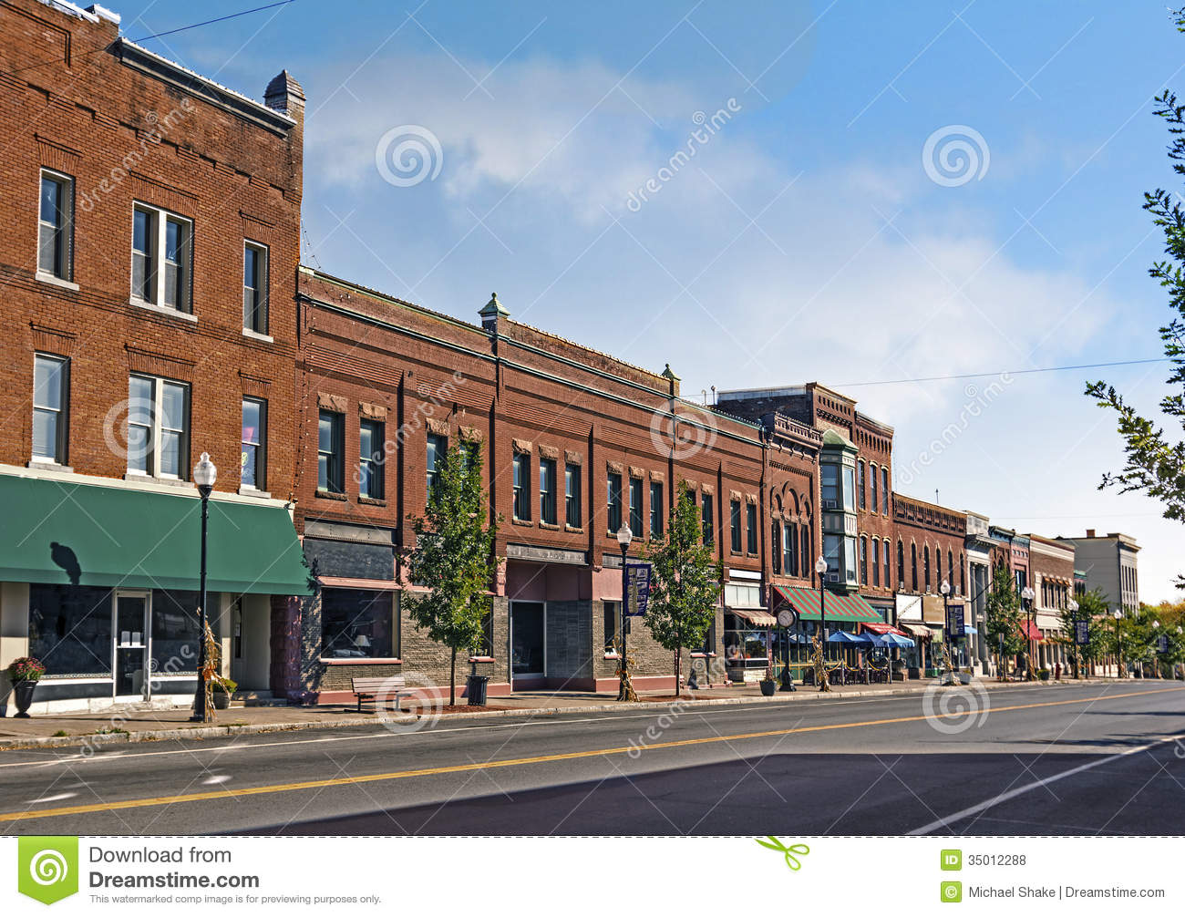 Small Town Main Street Royalty Free Stock Photos Image