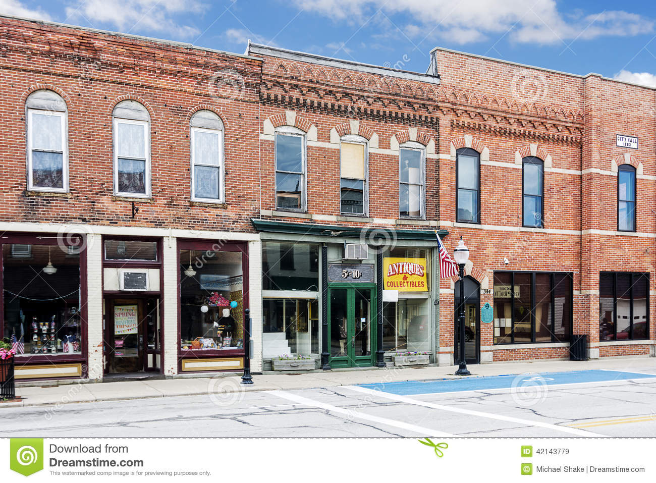 Small Town Main Street Editorial Stock Image Image Of
