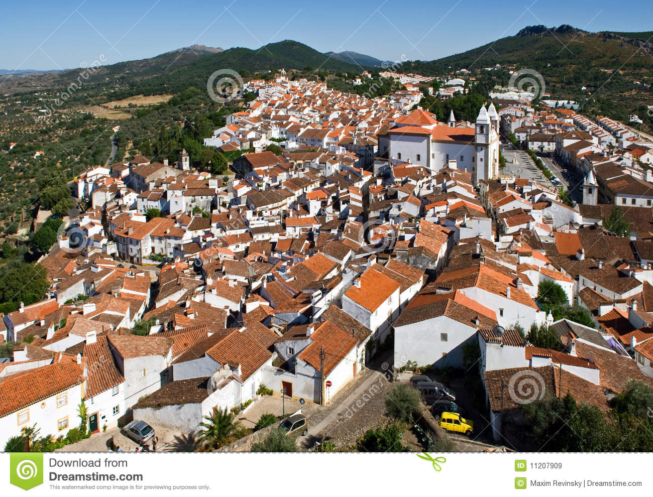 Small Town In Portugal Royalty Free Stock Images Image