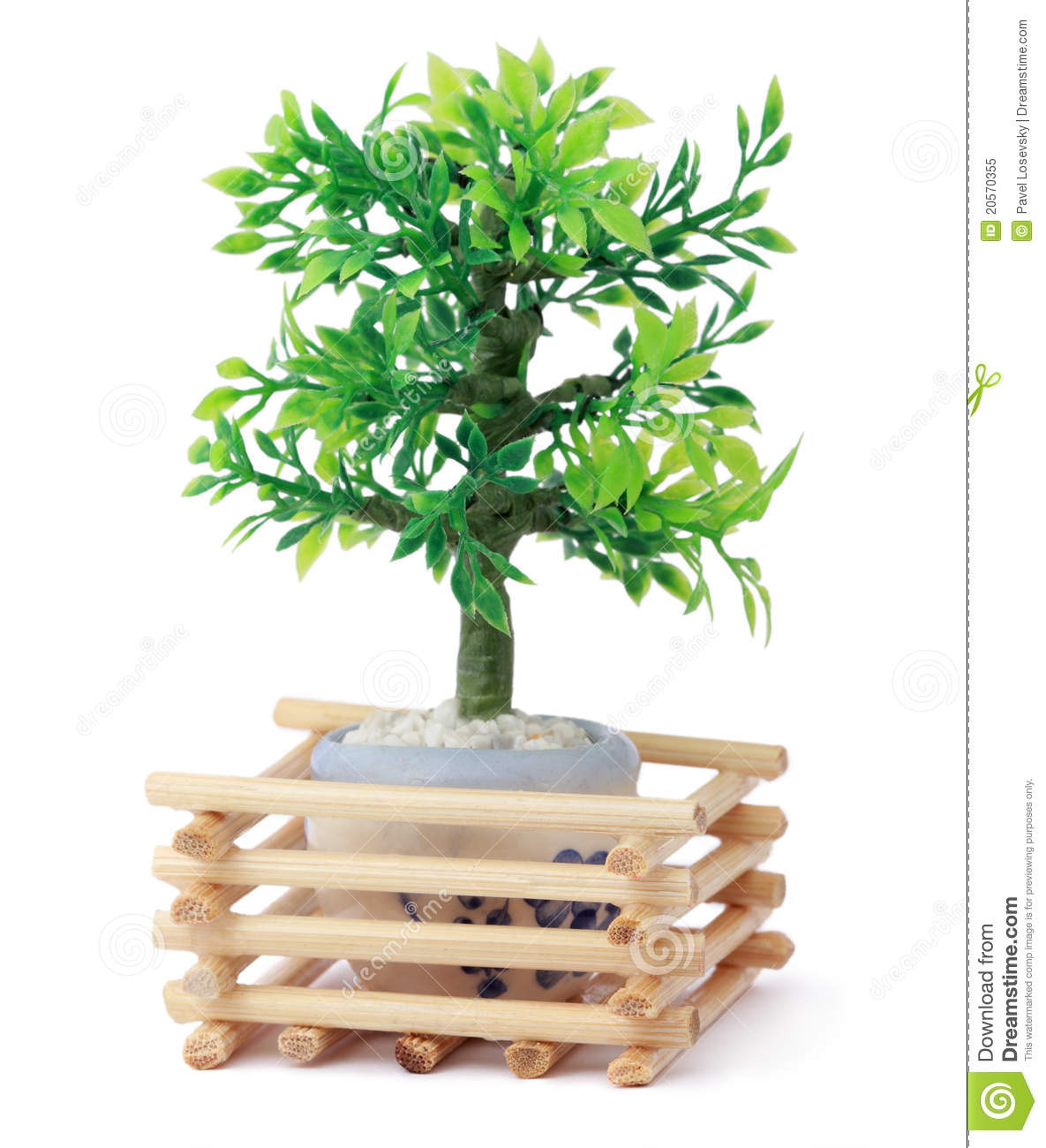 Small Toy Tree In Pot, Wooden Sticks Royalty Free Stock ...